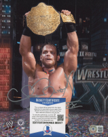 "Chris Benoit Signed WWE 8x10 Photo Inscribed ""Wrestlemania XX World Champion"" (Beckett COA) at PristineAuction.com"