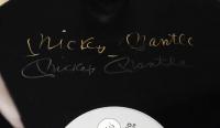 "Mickey Mantle, Willie Mays, & Duke Snider Signed ""Talkin' Baseball"" 25x31 Custom Framed LP Vinyl Record Album Display (Beckett LOA) (See Description) at PristineAuction.com"