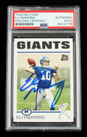Eli Manning Signed 2004 Topps #350 RC (PSA Encapsulated) at PristineAuction.com