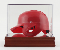 """Nolan Ryan Signed Angels Batting Mini Helmet Inscribed """"The Ryan Express"""" With High Quality Display Case (PSA COA) at PristineAuction.com"""