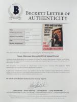 """The Texas Chainsaw Massacre"" 27x41 Movie Poster Signed By (9) with Gunnar Hansen, Marilyn Burns, John Dugan, Teri McMinn, Allen Danziger, Ed Guinn, Paul A. Partain with Multiple Inscriptions (Beckett LOA) (See Description) at PristineAuction.com"