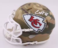 Clyde Edwards-Helaire Twice-Signed Chiefs Camo Alternate Speed Mini Helmet (Beckett COA) (See Description) at PristineAuction.com