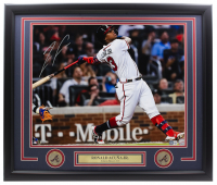 Ronald Acuna Jr. Signed Braves 16x20 Custom Framed Photo Display with (2) Coins (Beckett Hologram) at PristineAuction.com