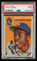 Hank Aaron 1954 Topps #128 RC (PSA 2) at PristineAuction.com