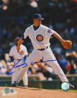 Kerry Wood Signed Cubs 8x10 Photo (Beckett COA) at PristineAuction.com