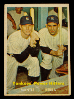 Mickey Mantle / Yogi Berra 1957 Topps #407 Yankees Power Hitters at PristineAuction.com