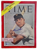"""Willie Mays Signed """"Time"""" Magazine (Beckett LOA) (See Description) at PristineAuction.com"""