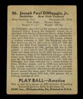 Joe DiMaggio 1939 Play Ball #26 RC at PristineAuction.com