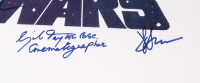 """""""Star Wars: Episode IV - A New Hope"""" 27.5x38 Poster Signed By (12) Mark Hamill, Harrison Ford, Carrie Fisher, Peter Mayhew, Anthony Daniels, Kenny Baker, Gil Taylor with Multiple Inscriptions (Beckett LOA) (See Description) at PristineAuction.com"""