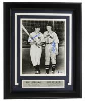Joe DiMaggio & Bob Feller Signed 11x14 Custom Framed Photo Display (Beckett LOA) at PristineAuction.com