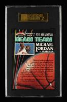 Michael Jordan 1992-93 Stadium Club Beam Team #1 (SGC 8.5) at PristineAuction.com