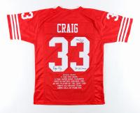 "Roger Craig Signed Career Highlight Stat Jersey Inscribed ""3x SB Champ"" & ""1000/1000 85"" (JSA COA) at PristineAuction.com"