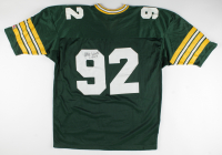 Reggie White Signed Packers Jersey With Inscription (Beckett LOA) (See Description) at PristineAuction.com