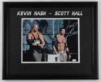 Kevin Nash & Scott Hall Signed 18x22 Custom Framed Photo Display (JSA Hologram) at PristineAuction.com