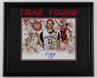 Trae Young Signed Oklahoma Sooners 18x22 Custom Framed Photo Display (JSA COA) (See Description) at PristineAuction.com