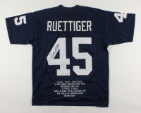 Rudy Ruettiger Signed Career Highlight Stat Jersey (JSA COA) at PristineAuction.com