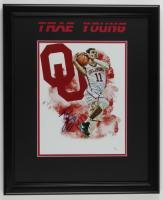 Trae Young Signed Oklahoma Sooners 18x22 Custom Framed Photo Display (JSA COA) at PristineAuction.com