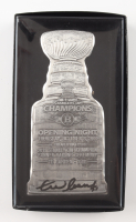 Zdeno Chara Signed 2011 Stanley Cup Champions Ticket Holder Silver Pewter Piece with Original Packaging (Chara COA) at PristineAuction.com