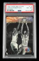 Michael Jordan & Oscar Robertson 1996 Topps Stars Imagine #I6 (PSA 8) at PristineAuction.com
