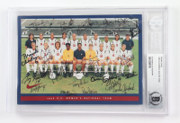 1996 U.S. Women's Soccer Team 5x7 Photo Signed By (15) With Mia Hamm, Michelle Akers, Brandi Chastain, Joy Fawcett, Julie Foudy (BGS Encapsulated) at PristineAuction.com