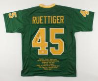 Rudy Ruettiger Signed Career Highlight Stat Jersey (JSA COA) (See Description) at PristineAuction.com
