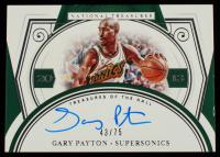 Gary Payton 2020-21 Panini National Treasures Treasures of the Hall Autographs #14 #43/75 at PristineAuction.com