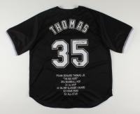 Frank Thomas Signed Career Highlight Stat Jersey (Beckett Hologram) (See Description) at PristineAuction.com
