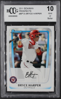 Bryce Harper 2011 Bowman Prospects #BP1A RC (BCCG 10) at PristineAuction.com