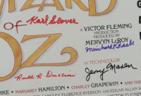 """""""Wizard of Oz"""" 15.5x24 Poster Signed by (6) Jerry Maren, Karl Slover, Ruth Duccini, Donna Stewart-Hardway, Meinhardt Raabe with Multiple Inscriptions (JSA Hologram) (See Description) at PristineAuction.com"""