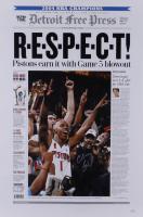 Chauncey Billups Signed Pistons 16x24 Photo (JSA Hologram) at PristineAuction.com