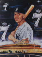 Mickey Mantle Signed Yankees 18x24 Poster (Beckett LOA) (See Description) at PristineAuction.com