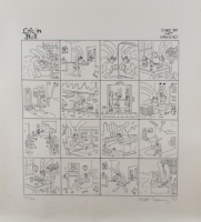 """Matt Groening Signed LE """"Life in Hell"""" 24x26 Lithograph (Beckett LOA) (See Description) at PristineAuction.com"""