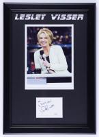 Lesley Visser Signed 14x20 Custom Framed Photo Cut Display with Inscription (JSA COA) (See Description) at PristineAuction.com
