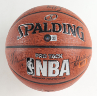 2015-16 Cavaliers NBA Basketball Team-Signed by (15) with LeBron James, Kevin Love, J.R. Smith, Mo Williams, Kyrie Irving (Beckett LOA) at PristineAuction.com