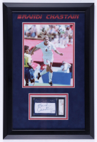 Brandi Chastain Signed 14x20 Custom Framed Photo Cut Display (SGC Encapsulated) (See Description) at PristineAuction.com