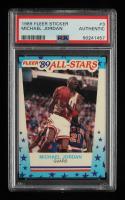 Michael Jordan 1989-90 Fleer Stickers #3 (PSA Authentic) at PristineAuction.com