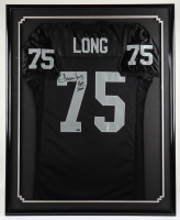 """Howie Long Signed Raiders 33x41 Custom Framed Jersey Display Inscribed """"HOF 2000"""" (Mounted Memories Hologram) (See Description) at PristineAuction.com"""
