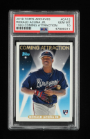 Ronald Acuna Jr. 2018 Topps Archives Coming Attraction #CA12 RC (PSA 10) at PristineAuction.com