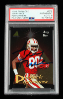 Jerry Rice Signed 1994 Pinnacle Performers #PP5 (PSA Encapsulated) at PristineAuction.com