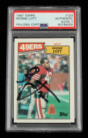 Ronnie Lott Signed 1987 Topps #123 AP (PSA Encapsulated) at PristineAuction.com