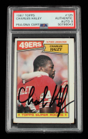 Charles Haley Signed 1987 Topps #125 RC (PSA Encapsulated) at PristineAuction.com