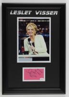 "Lesley Visser Signed 14.5x20.5 Custom Framed Cut Display Inscribed ""My No. 1 Fan"" & ""CBS"" (JSA COA) at PristineAuction.com"