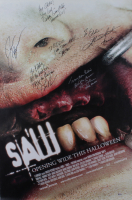 """""""Saw III"""" 27x40 Movie Poster Signed By (6) with Tobin Bell, Shawnee Smith, Darren Lynn Bousman, J. LaRose, Barry Flatman, and Debra McCabe with Multiple Inscriptions (Beckett LOA) (See Description) at PristineAuction.com"""