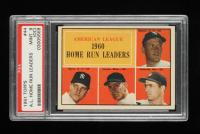 Mickey Mantle / Roger Maris / Jim Lemon / Rocky Colavito 1961 Topps #44 AL Home Run Leaders (PSA 9) (OC) at PristineAuction.com