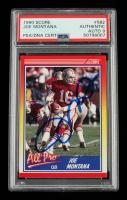 Joe Montana Signed 1990 Score #582 AP (PSA Encapsulated) at PristineAuction.com
