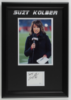 "Suzy Kolber Signed 14.5x20.5 Custom Framed Cut Display Inscribed ""Always"" & ""ESPN"" (JSA COA) at PristineAuction.com"
