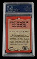 """Todd Christensen Signed 1987 Topps #2 Inscribed """"XV, XVIII"""" (PSA Encapsulated) at PristineAuction.com"""