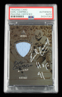 """Earl Campbell Signed 2018 Panini Luminance Vintage Materials #5 Inscribed """"HOF 91"""" (PSA Encapsulated) at PristineAuction.com"""
