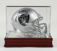 Bo Jackson Signed Raiders Speed Mini Helmet with High-Quality Display Case (Beckett COA) at PristineAuction.com