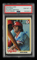 """Pete Rose Signed 1978 Topps #20 DP Inscribed """"1963 ROY"""" (PSA Encapsulated) at PristineAuction.com"""